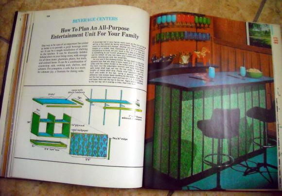 Inside of vintage decorating book