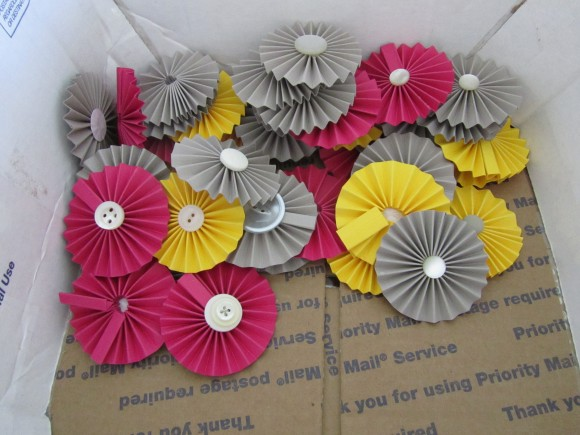 Paper flowers YAY