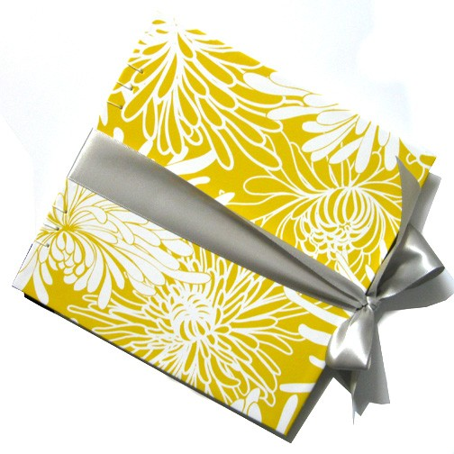 Silver Wrapped Canary Dahlia guestbook by RedOtter