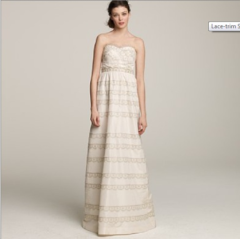 J.Crew Lace-Trim Stephanie Gown