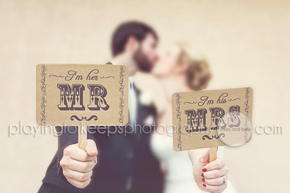 Mr. and Mrs./Thank You Signs by pertyfultings