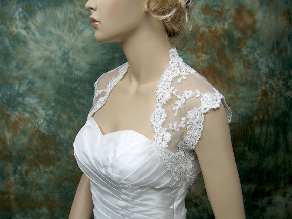 Lace bridal shrug by alexbridal