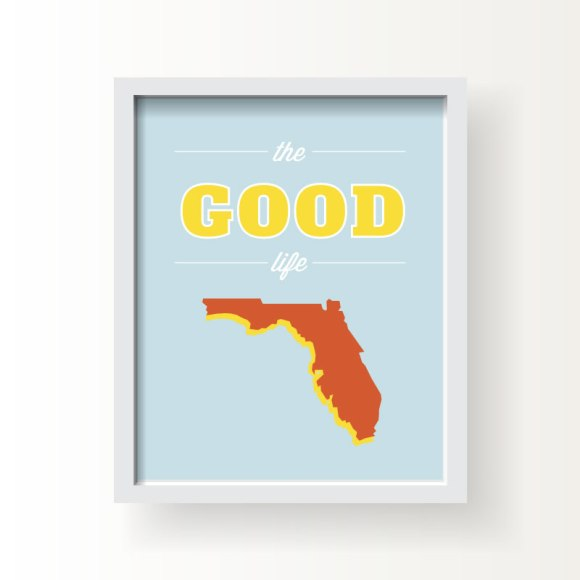 State typography, slogan, and motto art prints