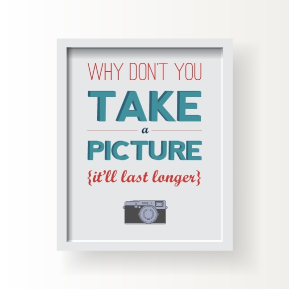 Typography art print from Franny & Franky Designs on Etsy